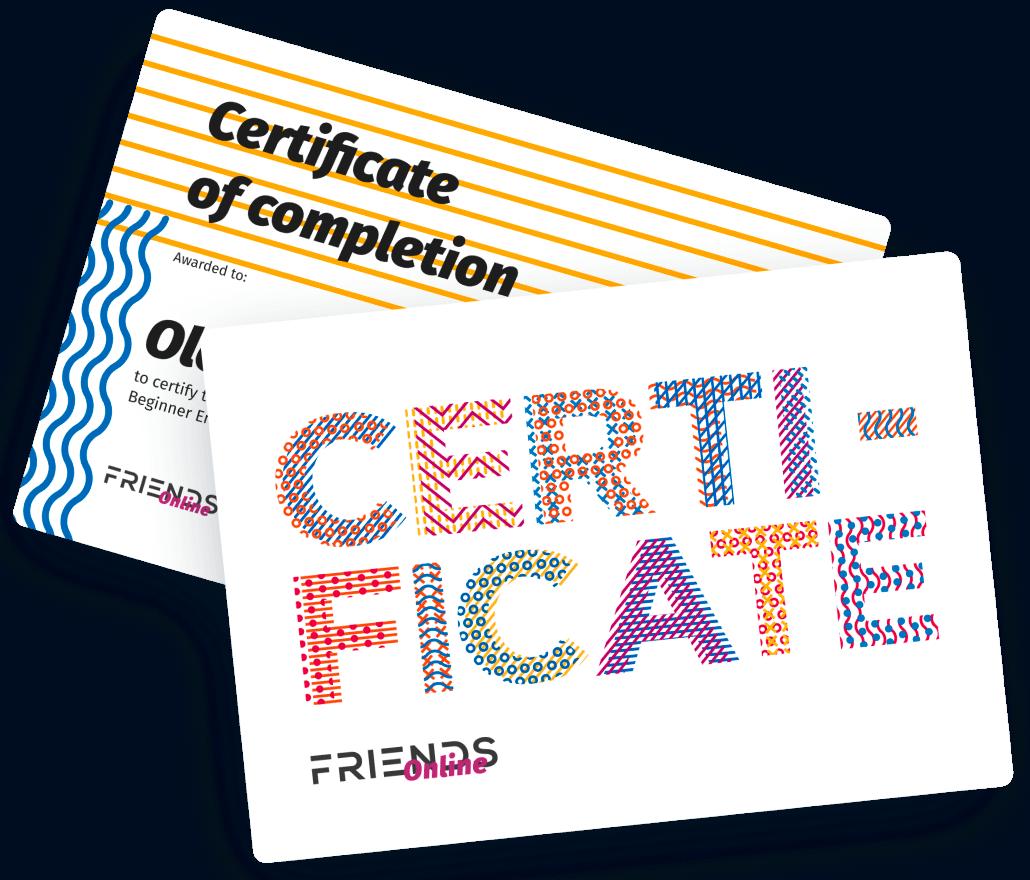 Сертификат в конце курса